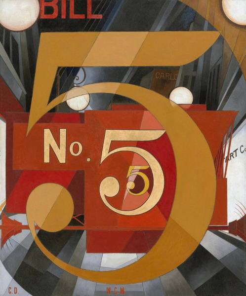 Daring Painting - I Saw The Figure 5 In Gold by Charles Demuth