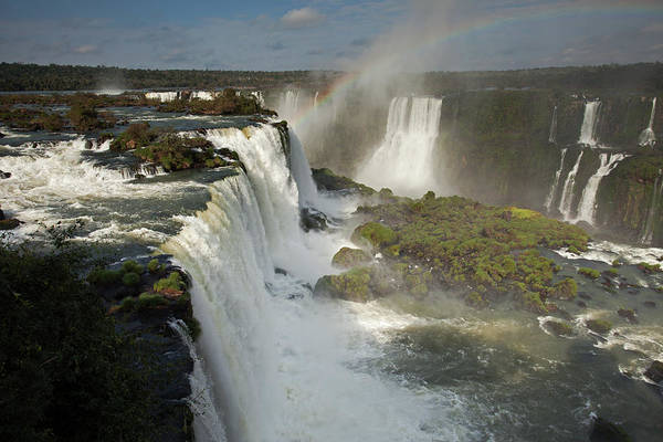 Photograph - Iguassu Falls With Rainbow by Aivar Mikko