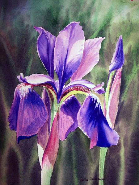 Painting - Purple Iris by Irina Sztukowski