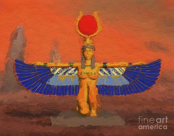 Sanctity Wall Art - Painting - Isis, Mother Goddess Of Egypt By Mary Bassett by Mary Bassett