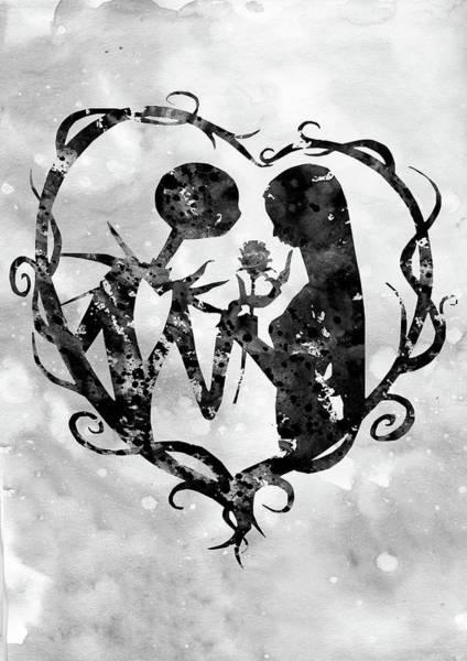 Wall Art - Digital Art - Jack And Sally-black by Erzebet S