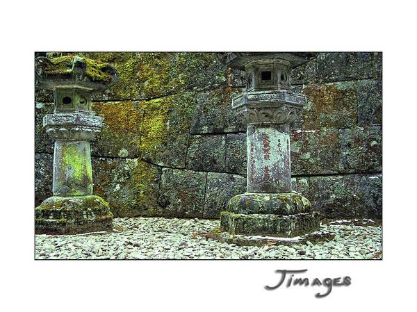 Emperor Of Japan Wall Art - Photograph - 2 Japanese Stone Lanterns by Jim Austin Jimages