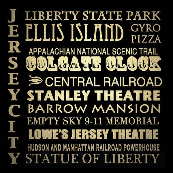 Colgate Wall Art - Digital Art - Jersey City Famous Landmarks by Patricia Lintner