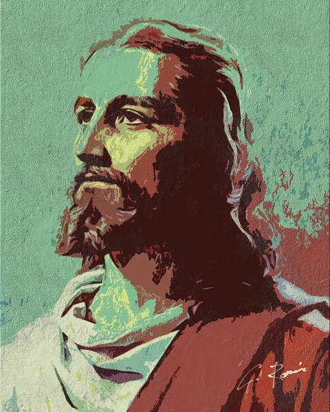Digital Art - Jesus by Charlie Roman