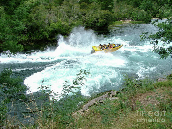 Wall Art - Photograph - Jet Boat On Rapids by Patricia Hofmeester