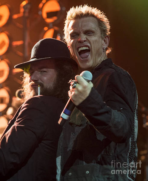 Billy Idol Photograph - Jim James And Billy Idol by David Oppenheimer