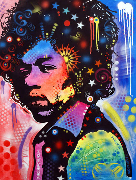 Band Wall Art - Painting - Jimi Hendrix by Dean Russo Art