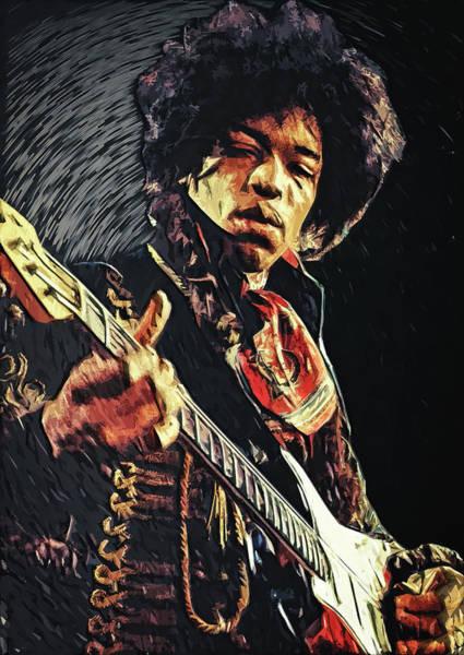Digital Art - Jimi Hendrix by Zapista Zapista
