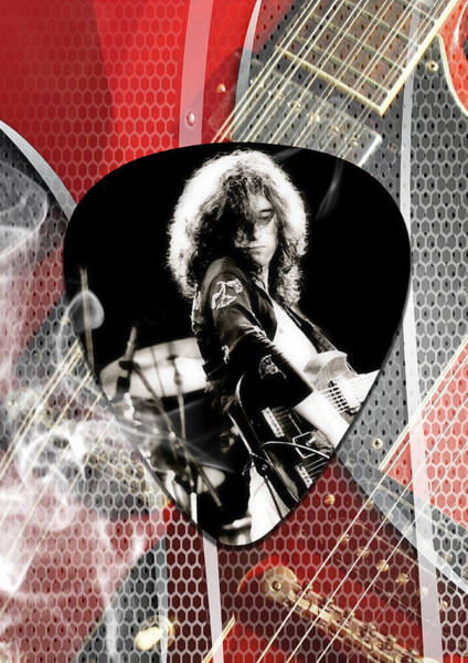 Rock And Roll Jimmy Page Wall Art - Mixed Media - Jimmy Page Art by Marvin Blaine