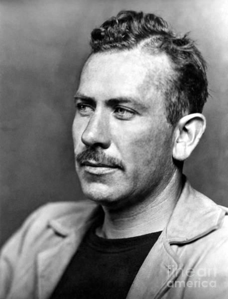 Nobel Prize Laureate Photograph - John Steinbeck (1902-1968) by Granger