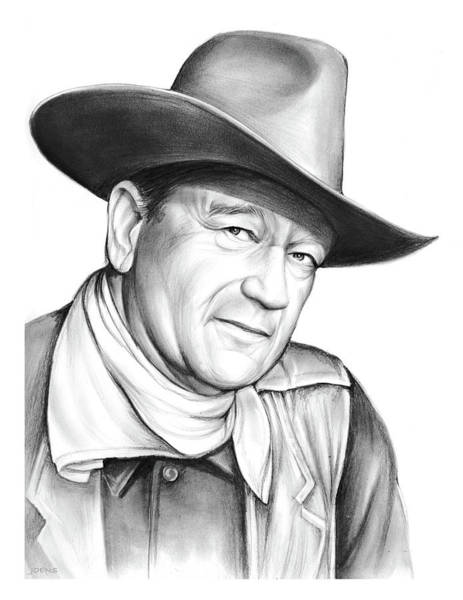 Professional Drawing - John Wayne by Greg Joens