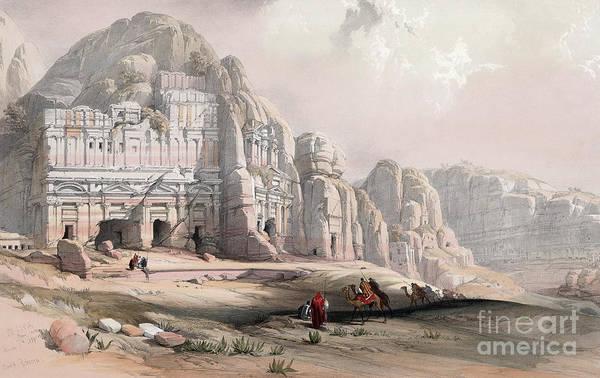 Drawing - Jordan, Petra, 1839 by Granger