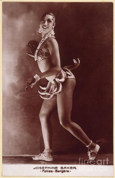 Photograph - Josephine Baker (1906-1975) by Granger
