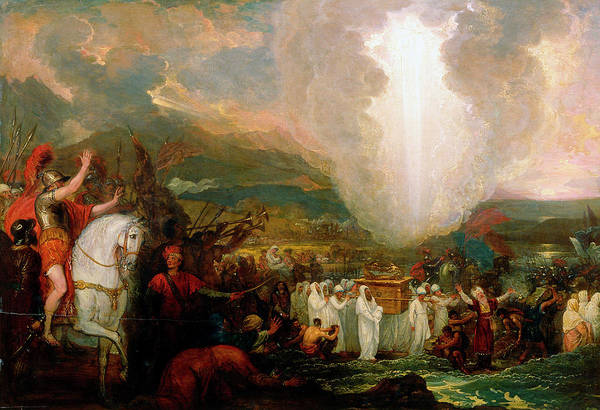 Hebrew Painting - Joshua Passing The River Jordan With The Ark Of The Covenant by Benjamin West