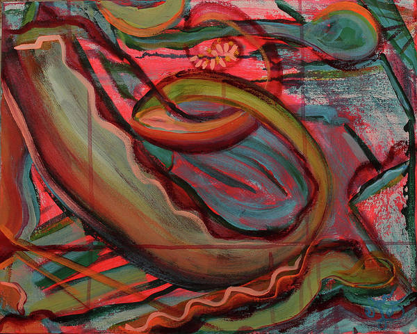 Wall Art - Painting - Just Keep Swimming by Ann Lutz