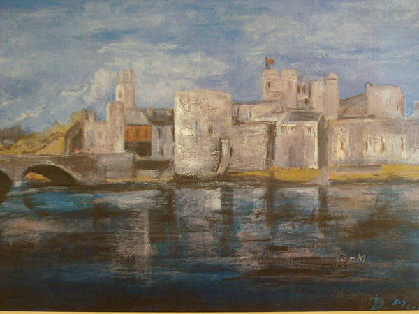 Post-it Painting - King Johns Castle Limerick City by Deirdre McNamara