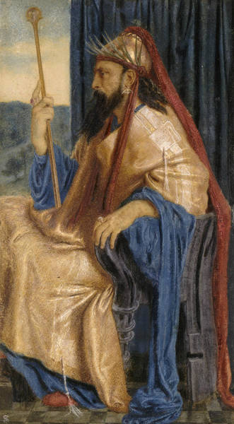 Wall Art - Painting - King Solomon by Simeon Solomon