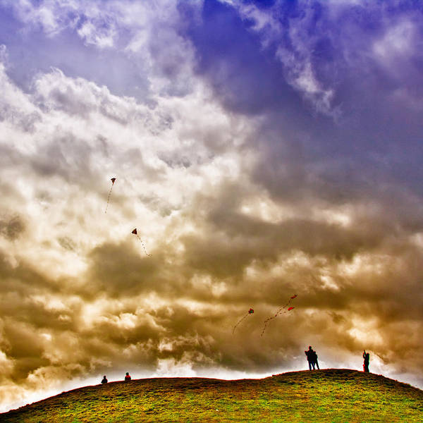 Flying Kite Photograph - Kite Flying by David Patterson