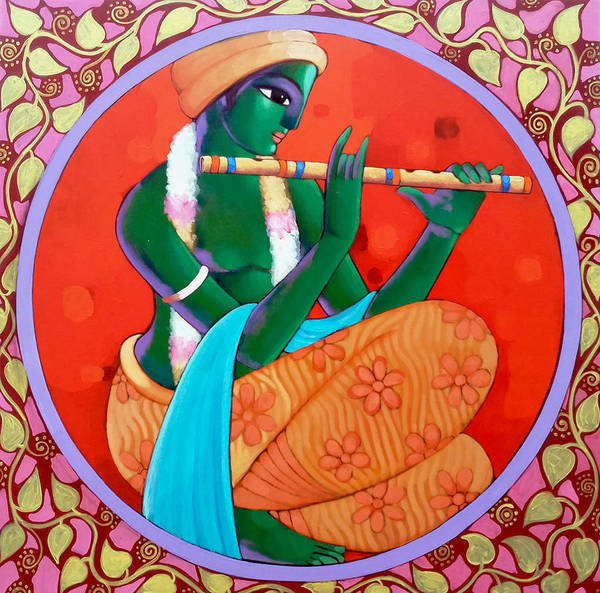 Painting - Krishna by Sekhar Roy