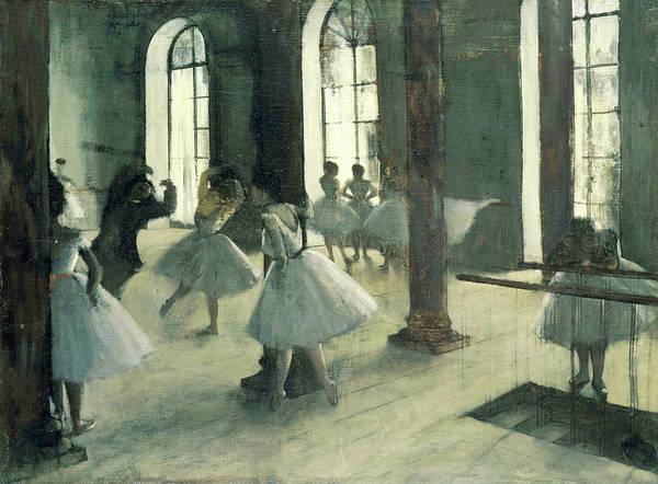 Painting - La Repetition Au Foyer De La Danse by Edgar Degas