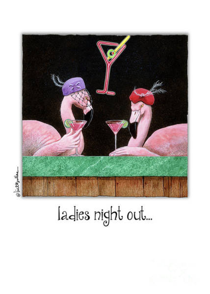 Painting - Ladies Night Out... by Will Bullas