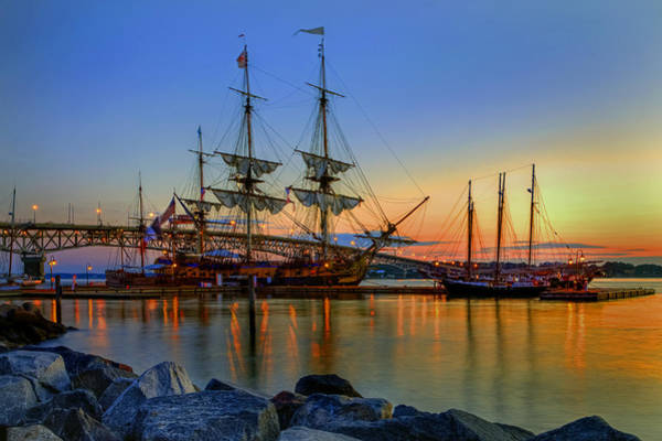 Photograph - Lafayette's Hermione Voyage 2015 by Jerry Gammon
