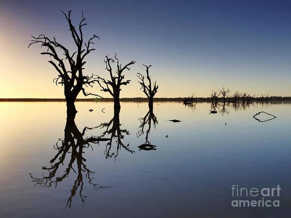 Drown Photograph - Lake Bonney Barmera Riverland South Australia by Bill  Robinson