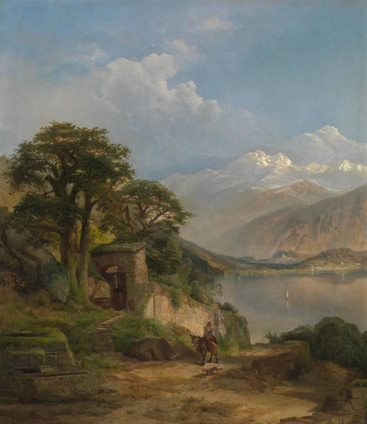 Lake Como Painting - Lake Como by Thomas Moran