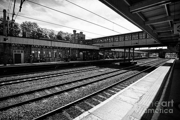 Wall Art - Photograph - Lancaster Railway Station England Uk by Joe Fox