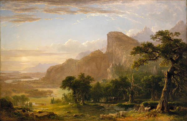 Photograph - Landscape Scene From Thanatopsis by Asher Brown Durand