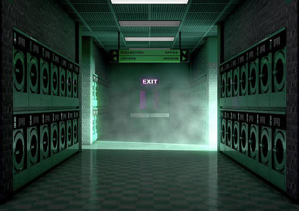 Wall Art - Digital Art - Laundromat Dirty by Allan Swart