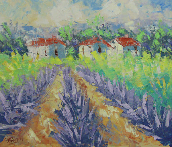 Painting - Lavender Field by Frederic Payet