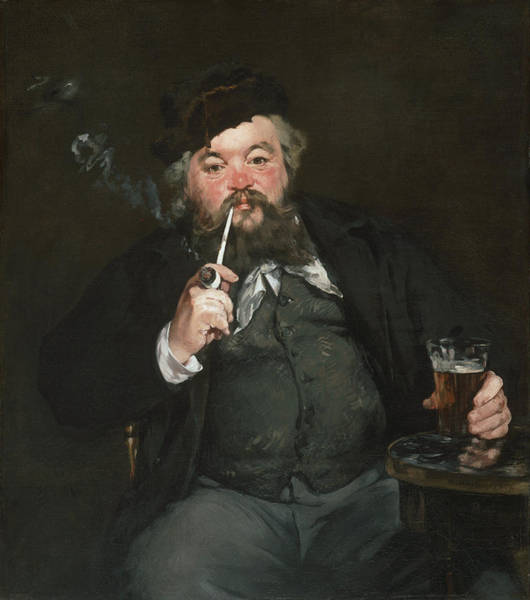 Manet Wall Art - Painting - Le Bon Bock by Edouard Manet