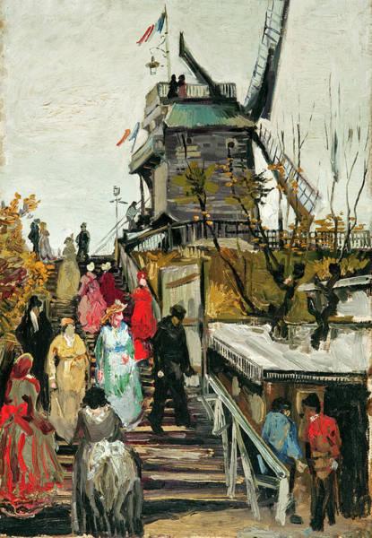 Painting - Le Moulin De Blute-fin by Vincent van Gogh