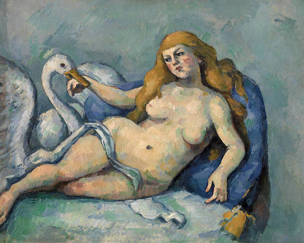 Water Foul Painting - Leda And The Swan by Paul Cezanne