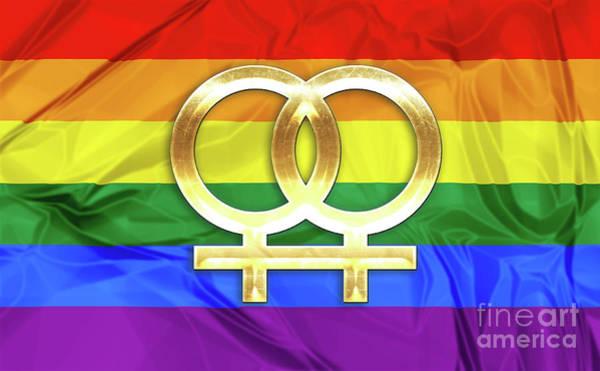 Digital Art - Lesbian Symbols by Benny Marty