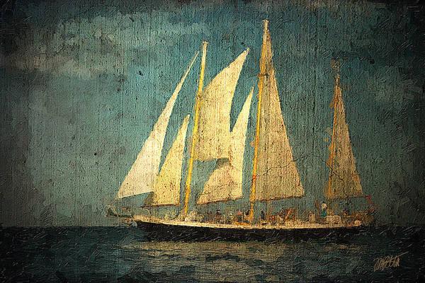 Schooner Digital Art - Liberte' by Michael Petrizzo
