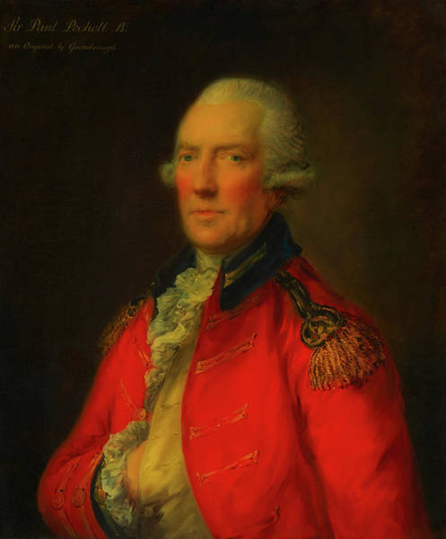 Painting - Lieutenant Colonel Paul Pechell  by Thomas Gainsborough