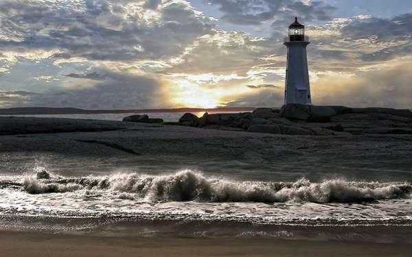Water Digital Art - Lighthouse by Maye Loeser