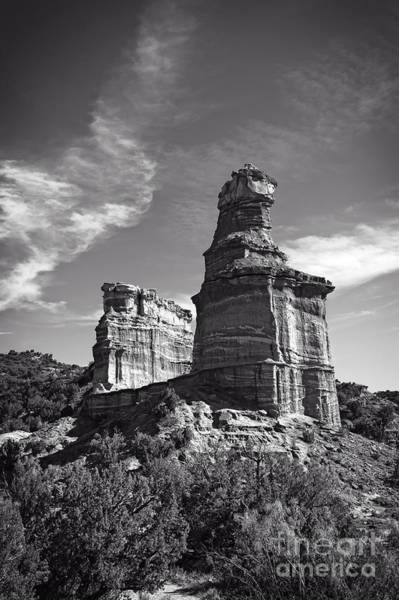 Wall Art - Photograph - Lighthouse Peak And Castle Rock by Charles Dobbs
