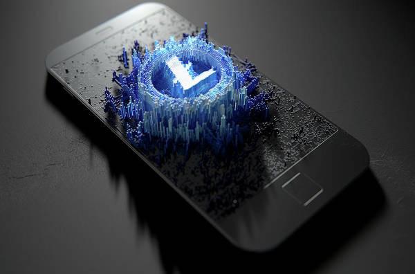 Wall Art - Digital Art - Litecoin Cloner Smartphone by Allan Swart