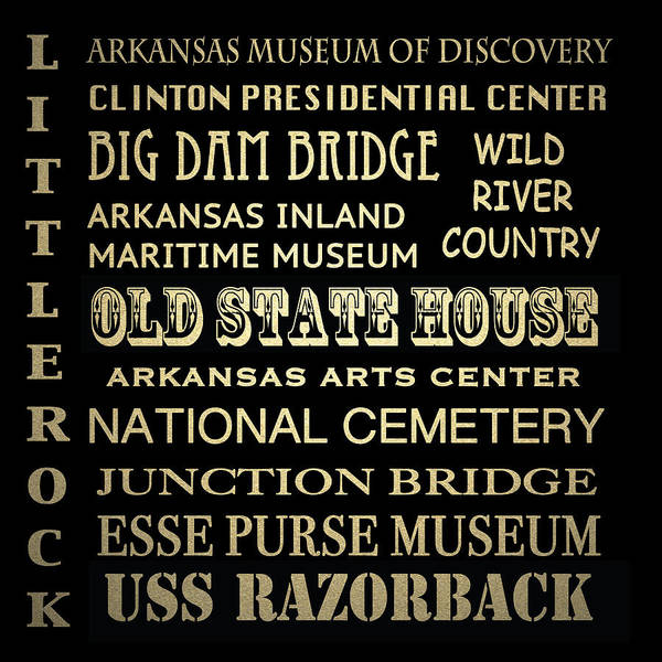 Country House Digital Art - Little Rock Famous Landmarks by Patricia Lintner