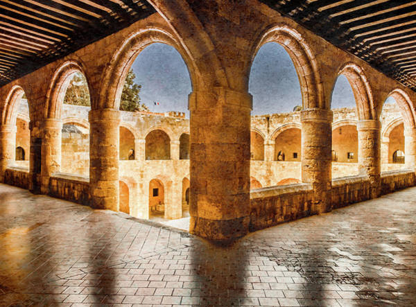 Photograph - Rhodes, Greece - Loggia II by Mark Forte