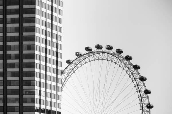Stadt Photograph - London Eye by Joana Kruse
