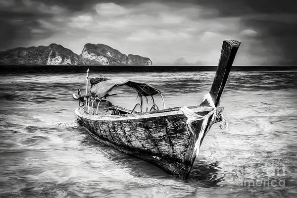 Thai Wall Art - Photograph - Longboat Thailand by Adrian Evans