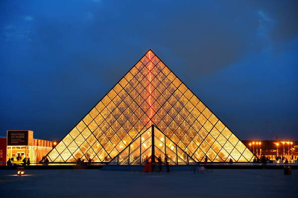 Photograph - Louvre Museum by Songquan Deng