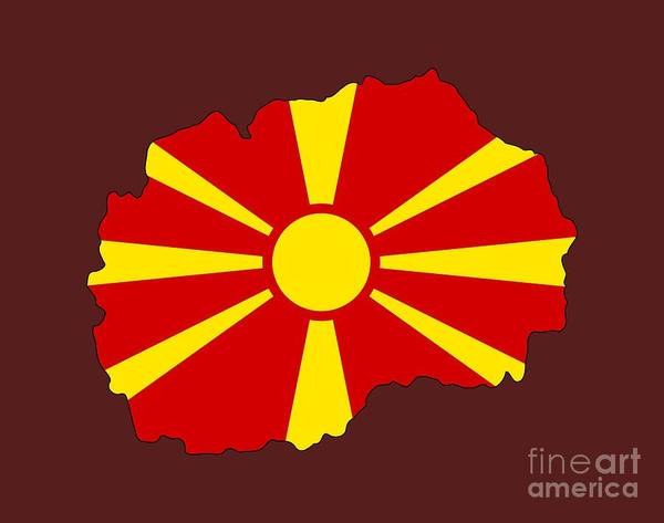 Macedonia Digital Art - Macedonia Flag by Frederick Holiday