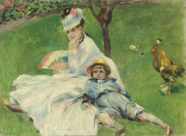 Painting - Madame Monet And Her Son by Auguste Renoir