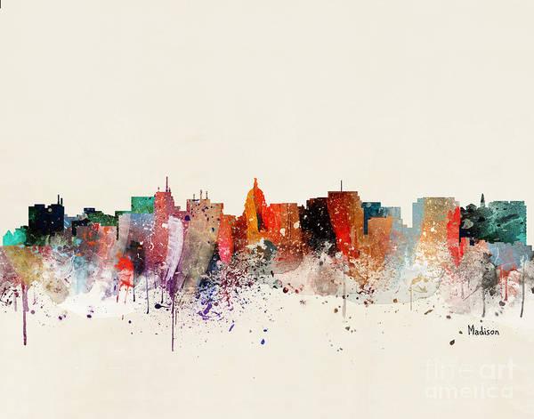 Wall Art - Painting - Madison Skyline by Bri Buckley
