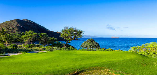 Lanai Photograph - Makena Golf Course In Makena Area by Panoramic Images